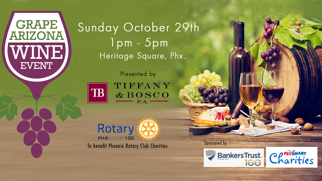 Grape Arizona Wine Event Sunday January 29th at Heritage Square in Phoenix